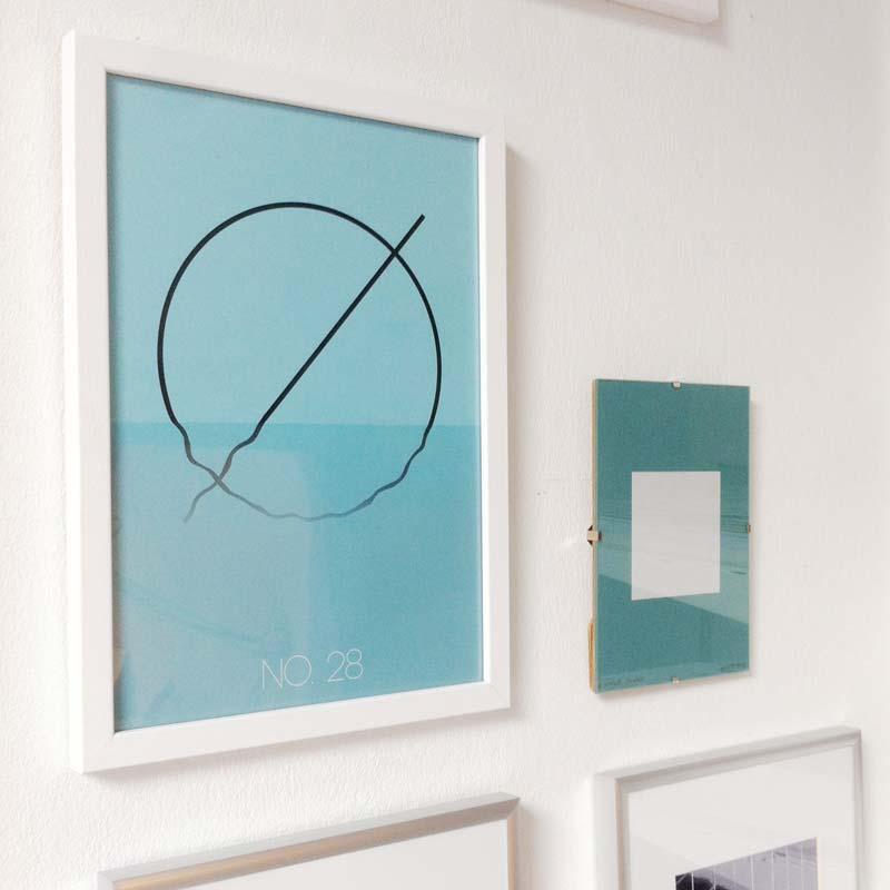 """The Alphabet: Ø"" print in frame"