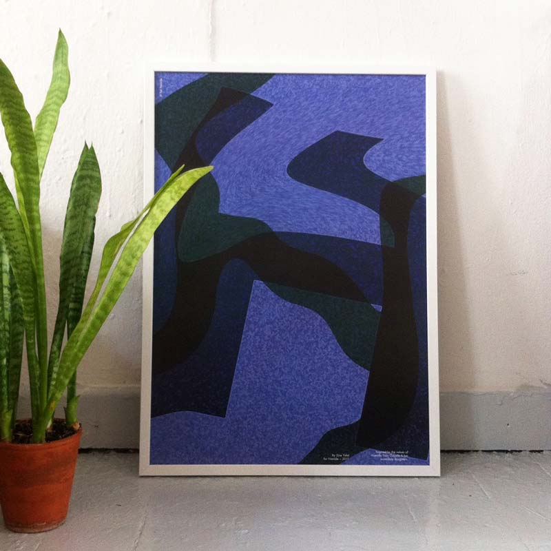 "'H for Hamide: Glitched Layers"" print in frame"