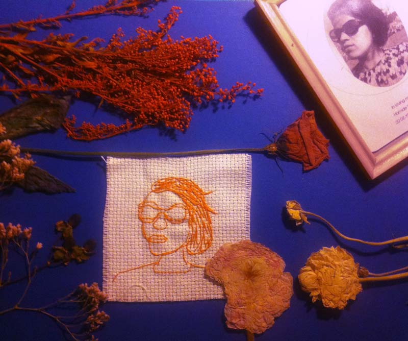 """Making of """"She is an Eastern Bird 3"""" collage"""