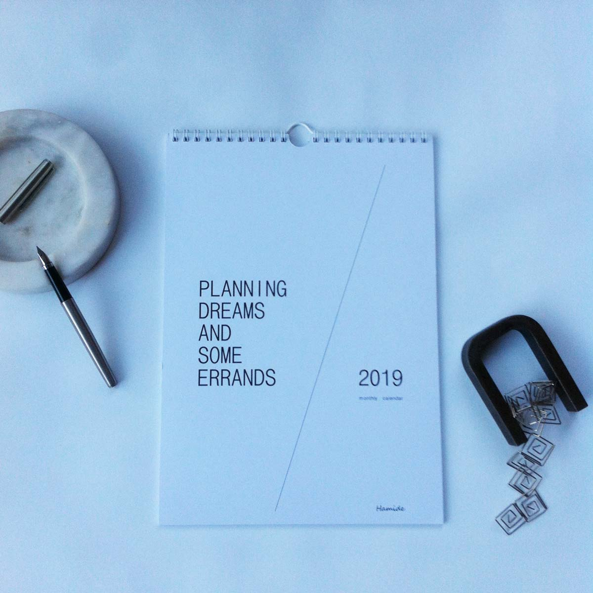 """Cover of """"Planning Dreams and Some Errands_2019"""" monthly calendar"""