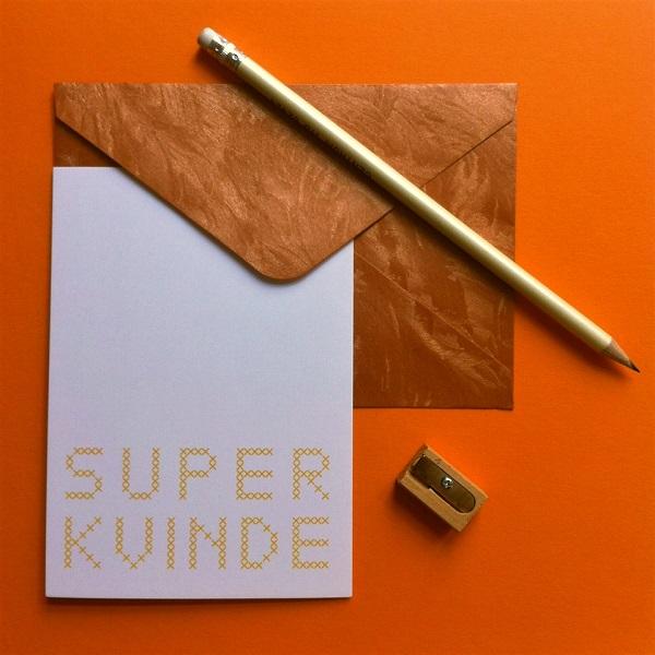Collections-Super-Woman-Postcard-Kvinde-Yellow-Hamide-Design-Studio