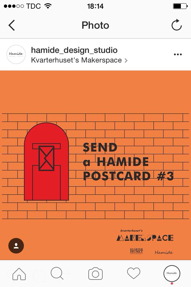 Screenshot of instagram post for Kvarterhuset's Makerspace's event