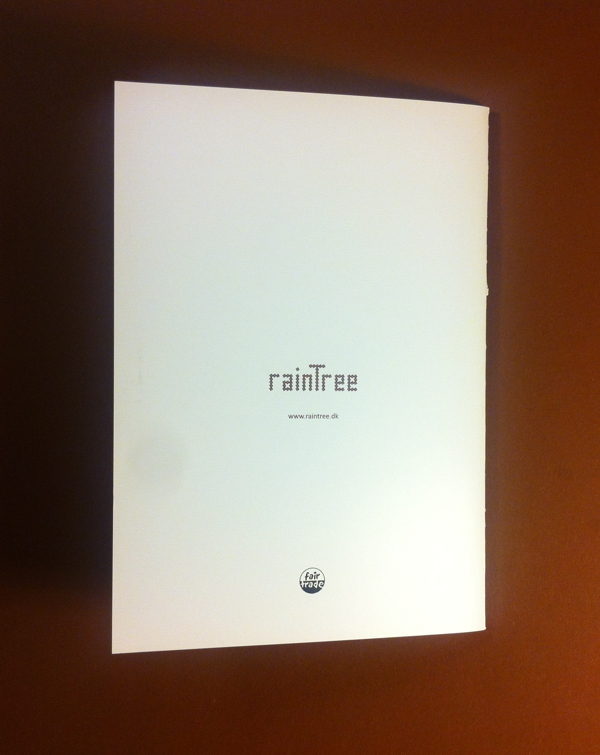 Back cover of RainTree catalog