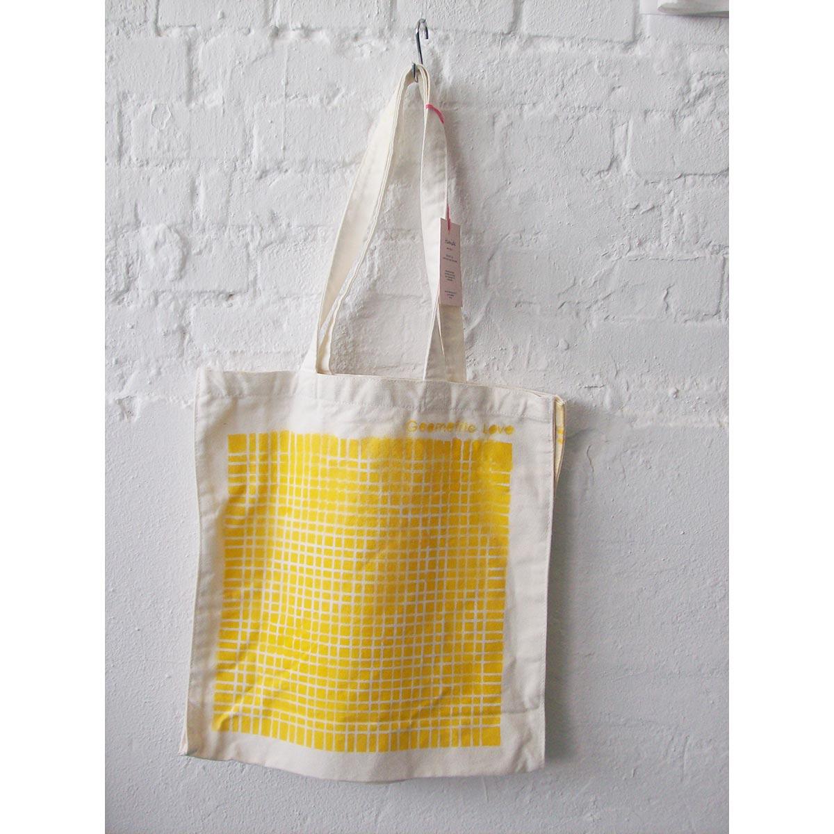 """Geometric Love"" canvas bag"