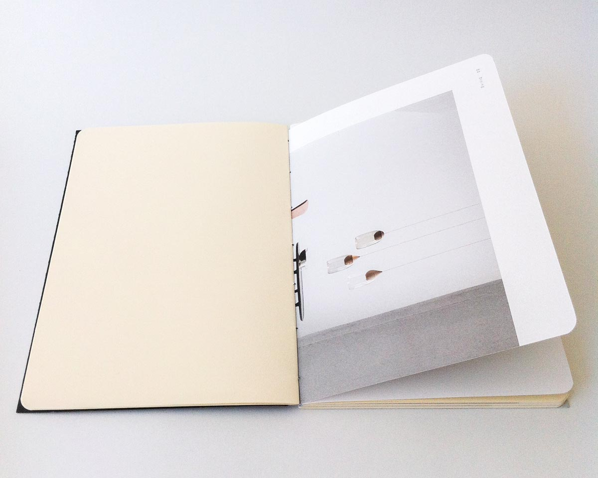 """Spread from the """"Hacked!"""" notebooks for Mater Earth Gallery"""