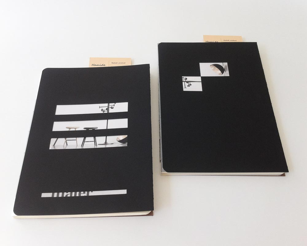 """""""Hacked!"""" notebooks for Mater Earth Gallery"""