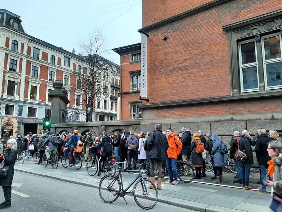 Line at the entrance of Museum of Copenhagen