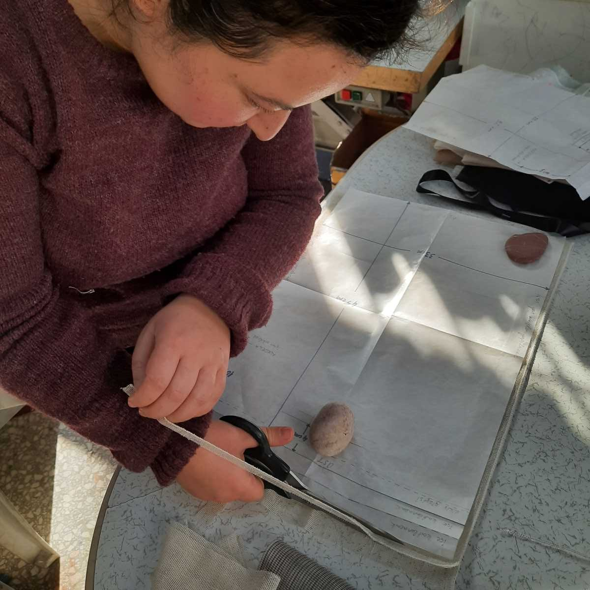 Making of Hamide Originals Tulle Sacs