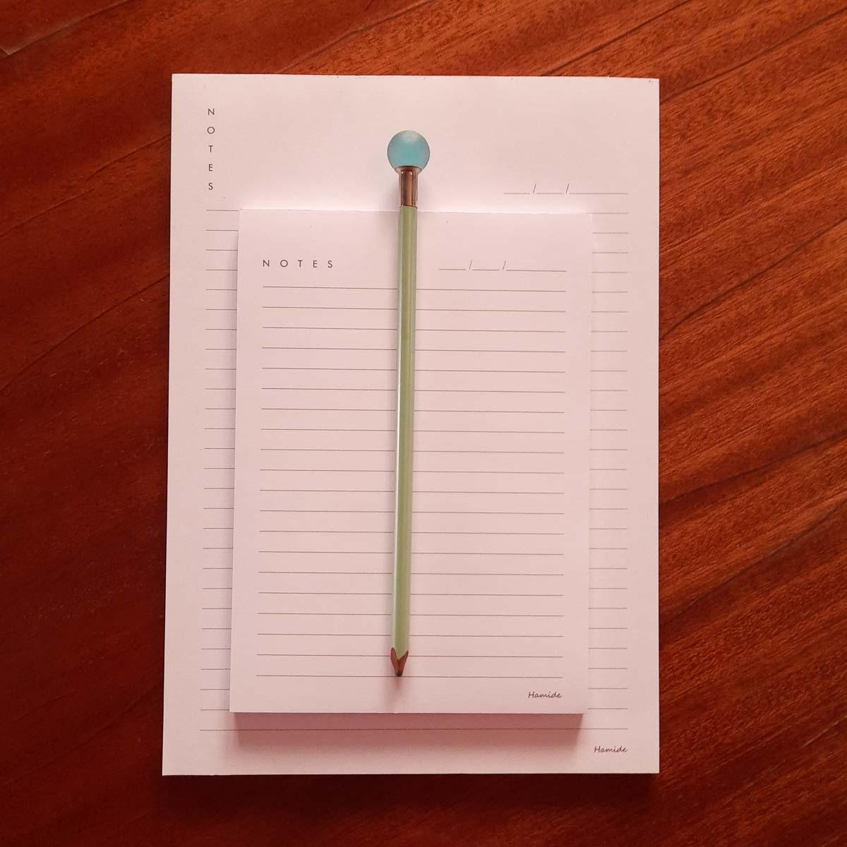 White Hamide Basics notepads