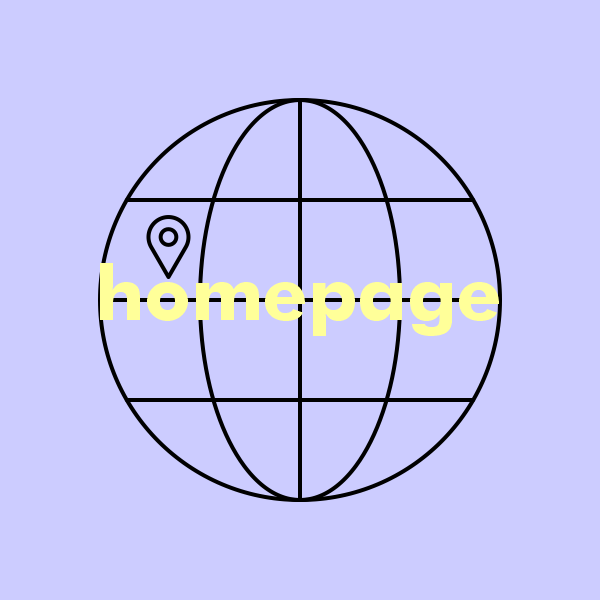 Location icon on internet icon symbolizing homepage