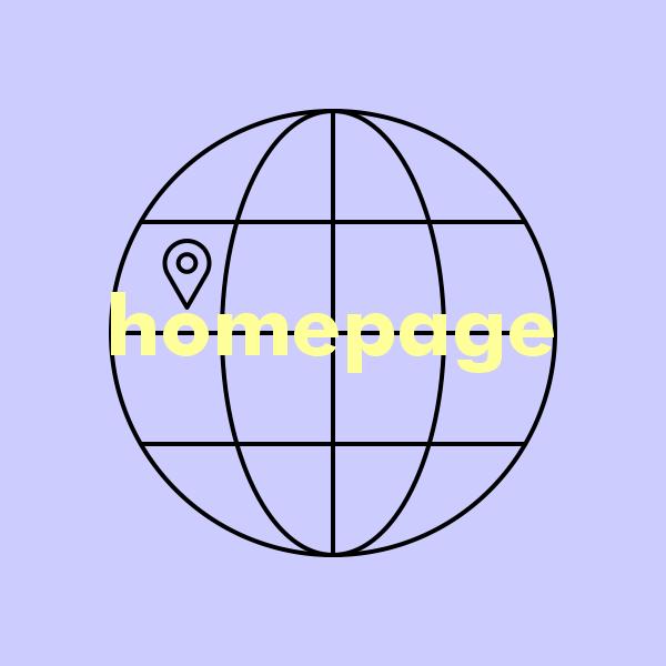 Location icon on internet icon symbolizing homepage